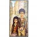 Schilderij jongen en meisje