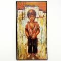 Schilderij jongen met hengel