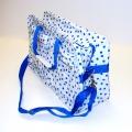 Grote tas blauwe stip