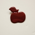 Broche appel rood
